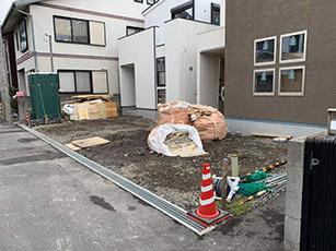 西大寺にて外構工事